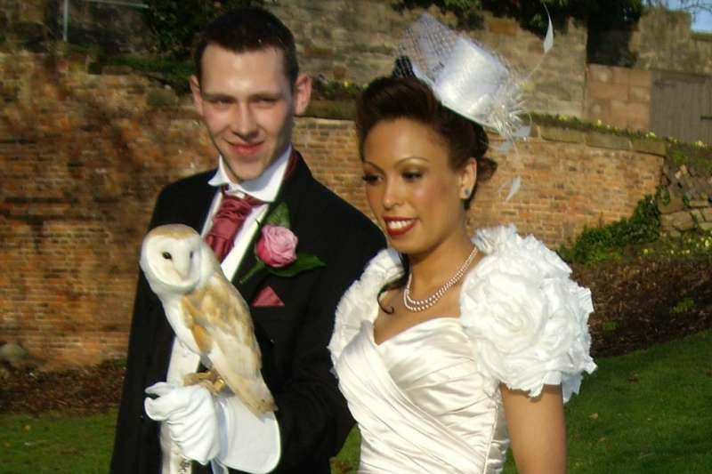 Owl Ring Bearer in Action Molly the Owl delivering Wedding Rings