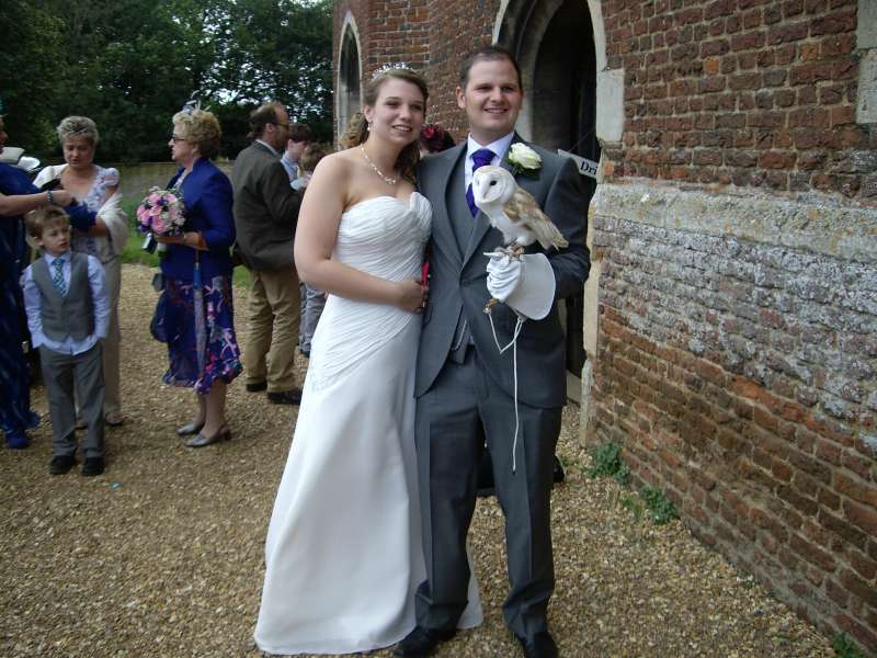 owl ring bearer molly at Tattershall Castle wedding