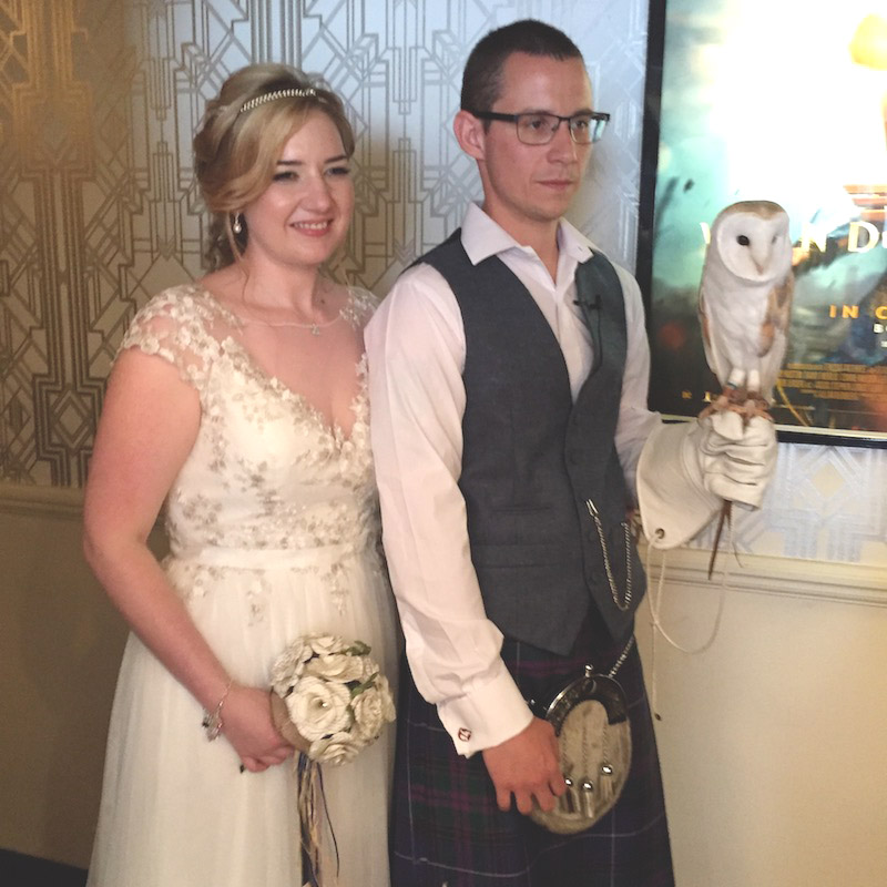 Owl Ring Bearer Gemma & Matthew Electric Cinema Birmingham 3
