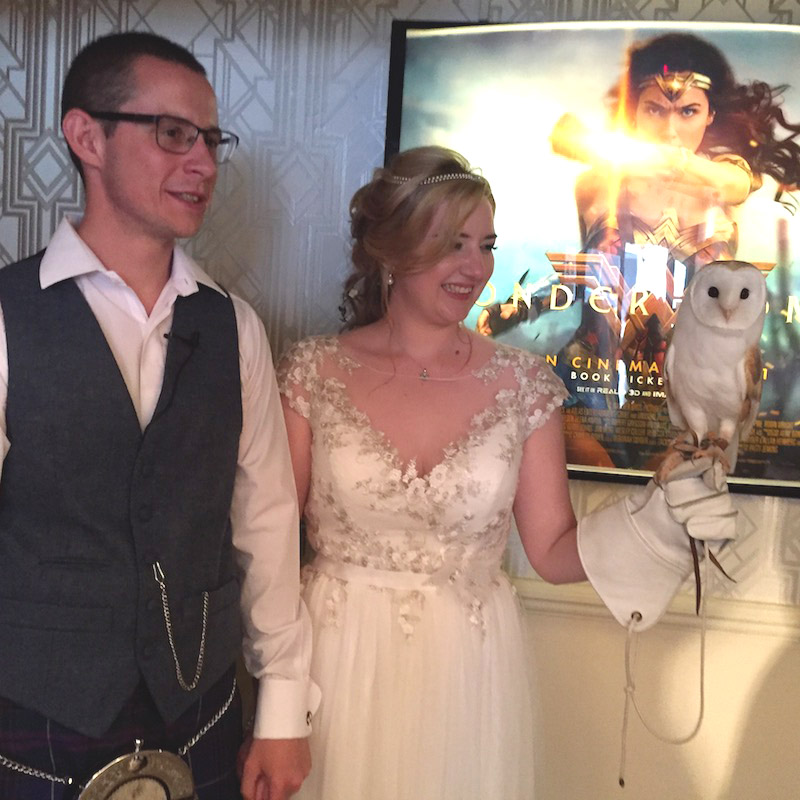 Owl Ring Bearer Gemma & Matthew Electric Cinema Birmingham 4