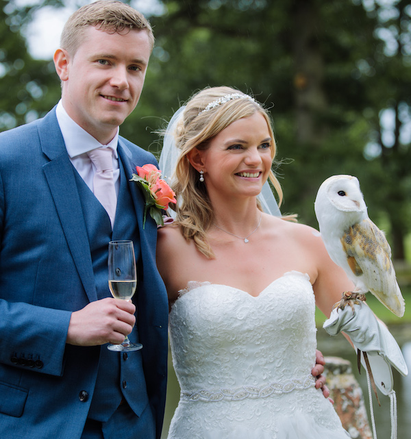 Owl Ring Bearer Clare & Chris July feat