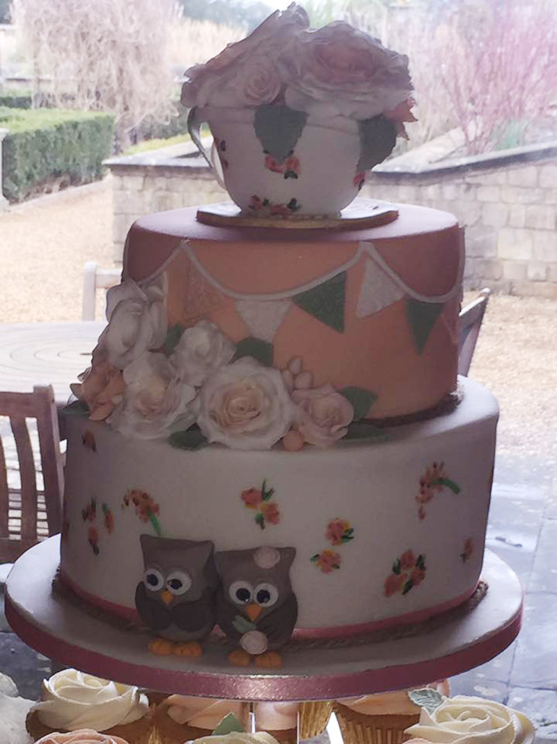 Ring on a Wing Owl Ring Bearer Lewis & Sarah Welcombe Hotel 2