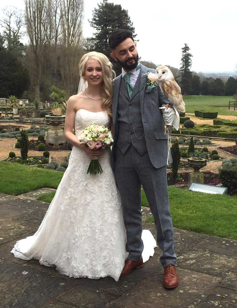 Ring on a Wing Owl Ring Bearer Lewis & Sarah Welcombe Hotel 5