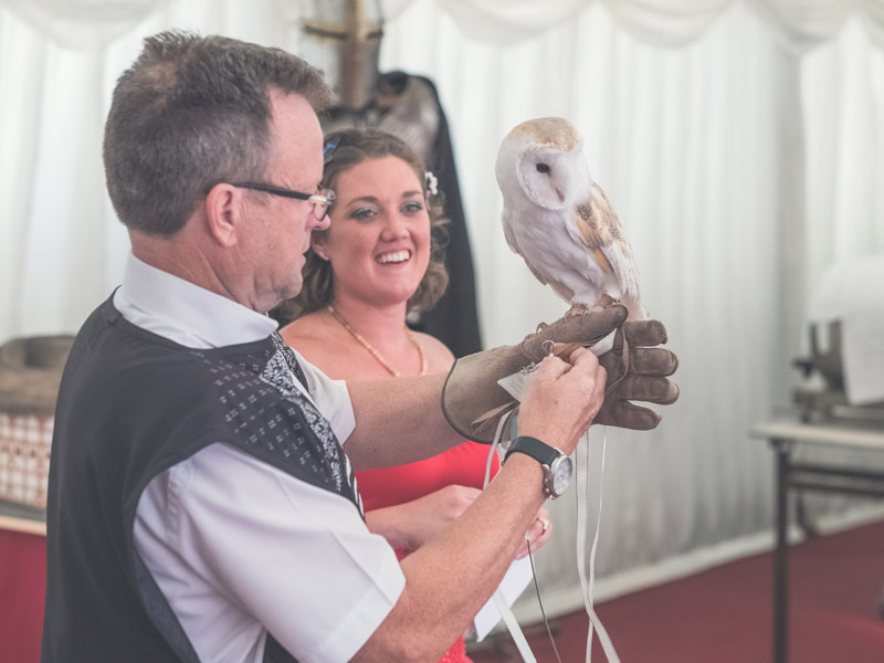 Emma and Gary Wedding Owl Ring Bearer
